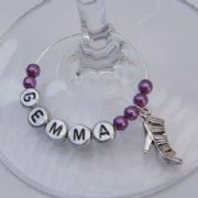 Trendy High Heel Shoe Personalised Wine Glass Charm